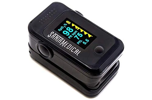 6. Pulse Oximeter Fingertip, Blood Oxygen Saturation Monitor, SpO2 with Pulse Rate Measurements