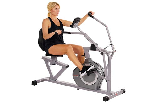 6. Sunny Health & Fitness Magnetic Recumbent Bike Exercise Bike, 350lb High Weight Capacity, Cross Training