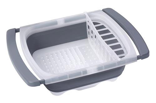 7. Prepworks by Progressive Collapsible Over-The-Sink Dish Drainer