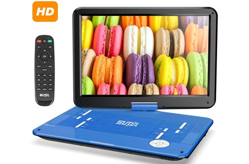 7. SUNPIN 17.9 Portable DVD Player with 15.6 inch Large HD Swivel Screen, Long Lasting Rechargeable Battery
