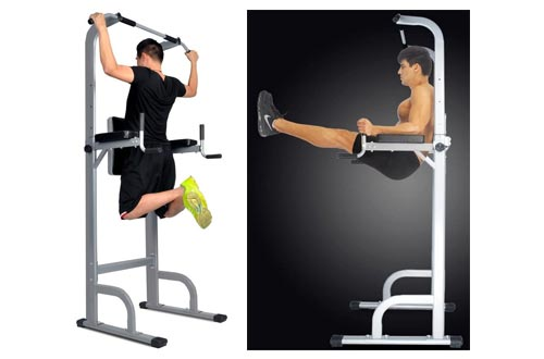 8. HYD-Parts Power Tower, Standing Full Body Chin up Bar, Adjustable Dip Station, Strength Muscle Training Fitness Workout