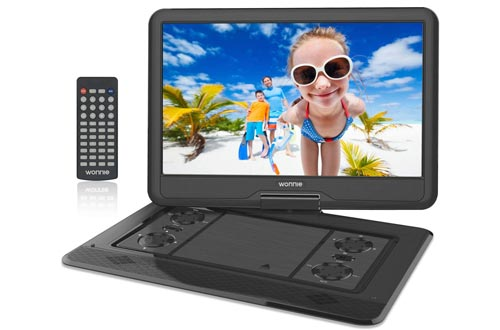 8. WONNIE 17.9 Large Portable DVD Player with 15.6 Swivel Screen, HD LCD TFT, USB SD Card Readers
