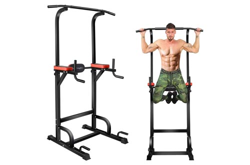 9. BangTong&Li Power Tower Workout Pull Up & Dip Station Adjustable Multi-Function Home Gym Fitness Equipment