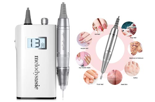 9. MelodySusie Professional Rechargeable 30000 rpm Nail Drill, Portable E-File with Long Life Battery