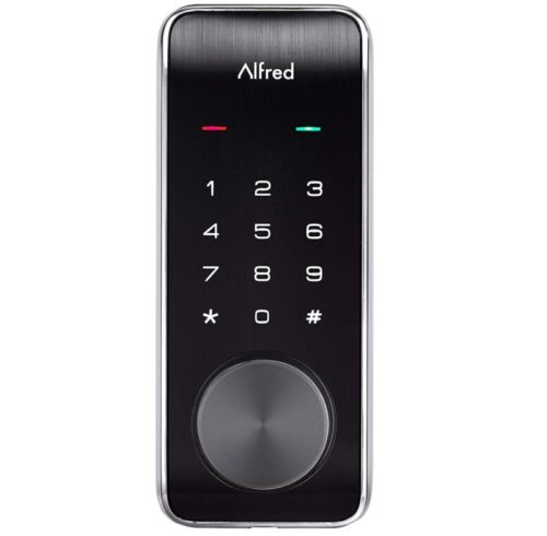 9.Alfred DB2-B Smart Door Lock Deadbolt Touchscreen Keypad, Pin Code + Key Entry + Bluetooth, Up to 20 Pin Codes (Chrome)