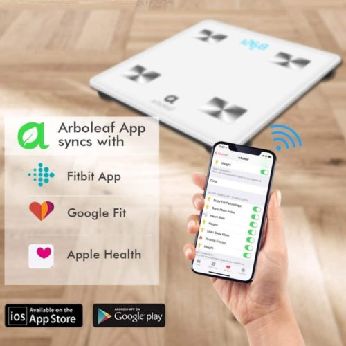 9.Arboleaf Digital Scale - Smart Scale Wireless Bathroom Weight Scale with iOS, Android AP