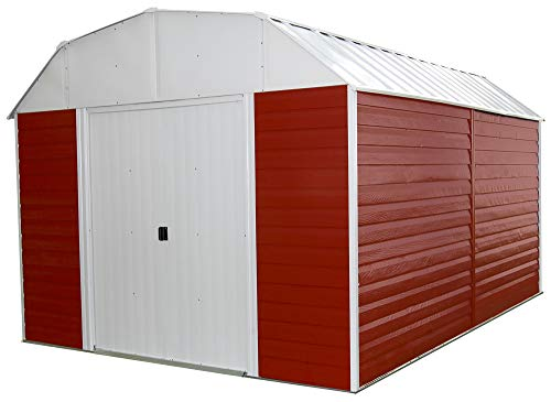 6. 14-Feet Steel Storage Shed by Arrow Shed