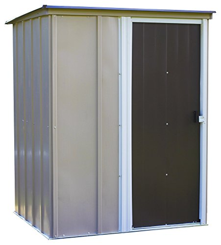 1. Brentwood Steel Outdoor Storage Shed with Sloped Metal Roof by Arrow