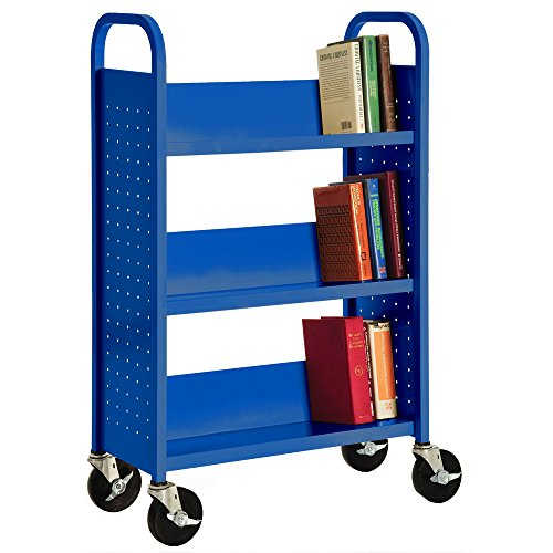 7. Single Sided Sloped Shelf Welded Bookcase by Sandusky