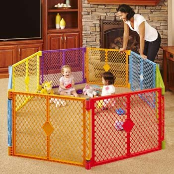 10. Toddleroo by North States Foldable Baby Playpen