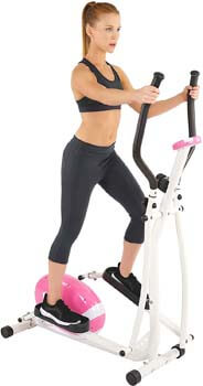 4. Sunny Health & Fitness Magnetic Elliptical Machine