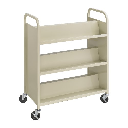 4. Double-Sided Book Cart by Safco