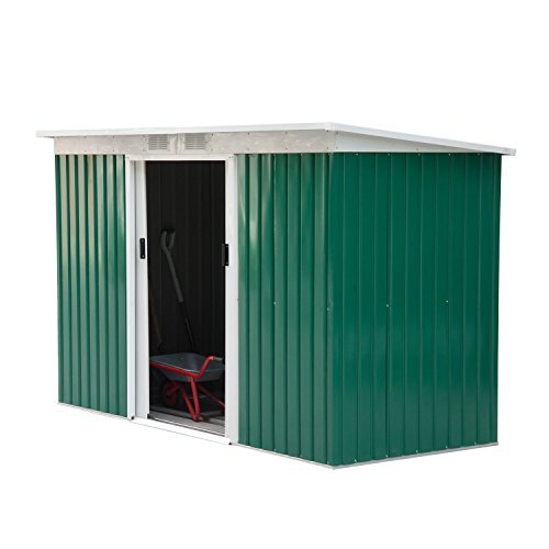 3. Outdoor Rust-Resistant Metal Garden Vented Storage Shed by Outsunny