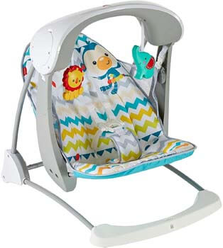 3. Fisher-Price Colorful Baby Swing