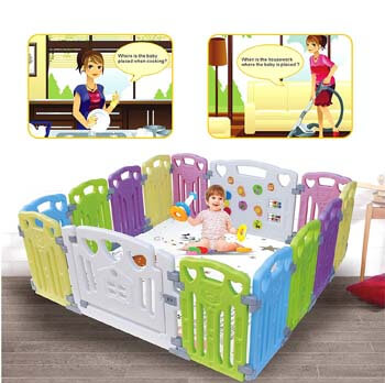 8. Gupamiga Outdoor Baby Playpen