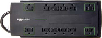4. AmazonBasics 12-Outlet Surge Protector