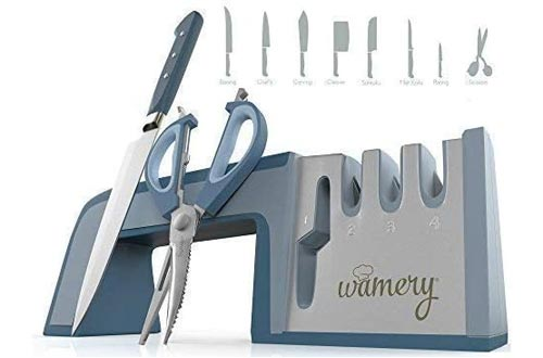 10. Wamery 4-Stage Kitchen Knife and Scissor Sharpeners