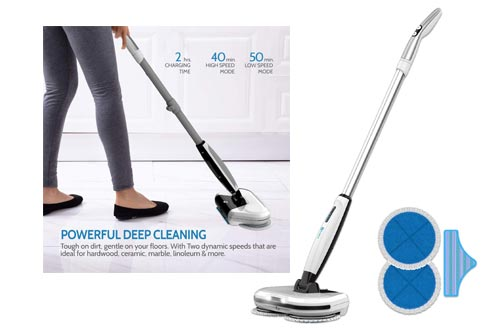 2. Rollibot M6 2 in 1 Floor Scrubber - Electric Mop Spinning Hard Floor Cleaner