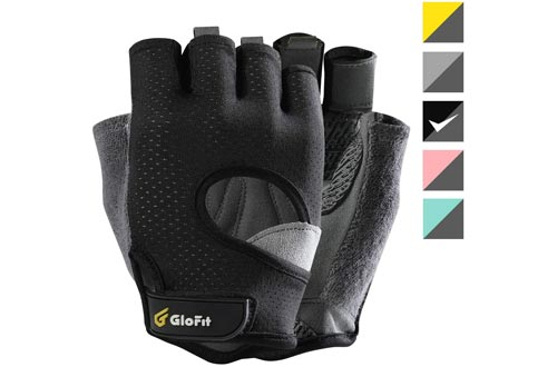 3. Glofit FREEDOM Workout Gloves, Weight Lifting Shorty Fingerless Gloves
