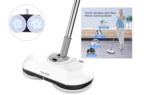 3. Homitt Electric Spin Mop Power Floor Scrubber