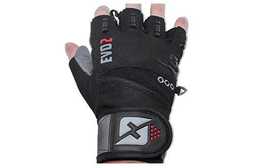 5. skott Weightlifting Gloves with Integrated Wrist Wrap Support