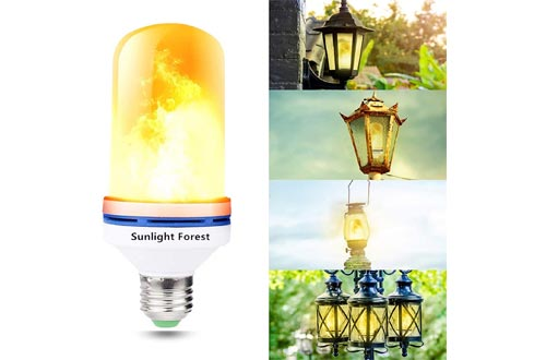 6. OMK - LED Flame Effect Fire Light Bulbs - 4 Modes Orange Flickering Fire Simulated Lamps