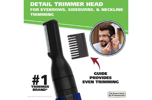6. Wahl Lithium Pen Detail Trimmer Interchangeable Heads for Eyebrow