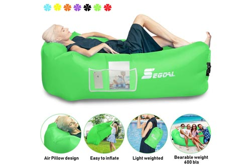7. Air Sofa, Air Chair Hammock with Pillow for Camping
