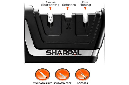 7. SHARPAL 3-in-1 Professional Kitchen blade Knife and Scissors Sharpener