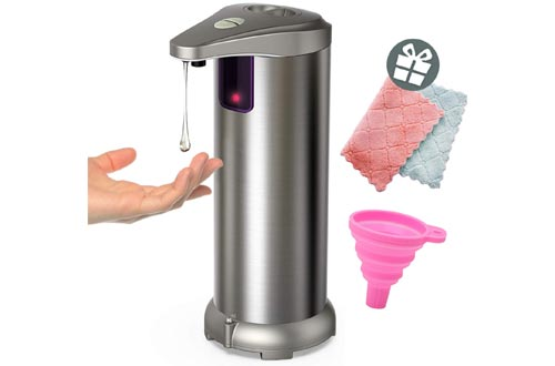 8. MOT Infrared Automatic Soap Dispenser, Stainless Steel Touchless Auto Hand Soap Dispenser