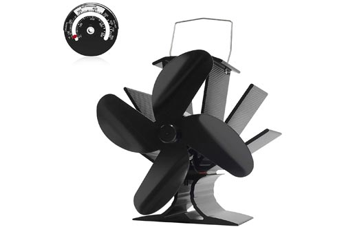 1. Signstek Wood Heat Powered Stove Fan