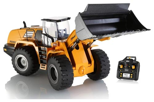 10. Top Race Full Functional Remote Control Front Loader Construction Tractor