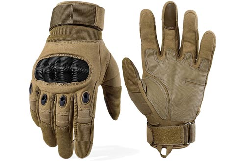 2. WTACTFUL Motorcycle Full Finger Gloves, Hunting Gloves