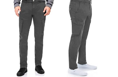 2. X RAY Men's Cargo Pants, Slim Fit Tactical Classic Cargo Pant