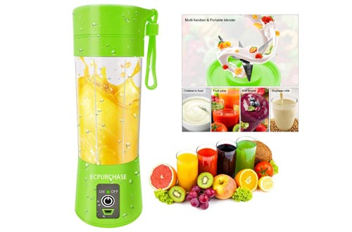 3. Portable Blender USB Rechargeable Juicer Cup Fruit Mixing Machine
