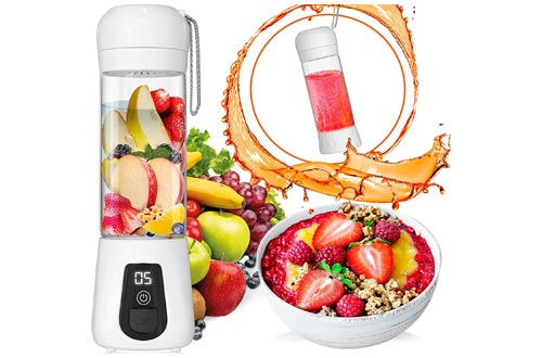 4. Lacomri Portable Blender USB Rechargeable - Personal Blender - Mini Blender with Stainless-Steel Blades