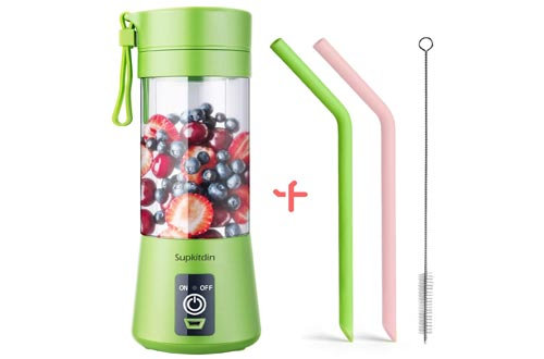5. Supkitdin Portable Blender, Personal Mixer Fruit Rechargeable with USB, Mini Blender for Great Mixing