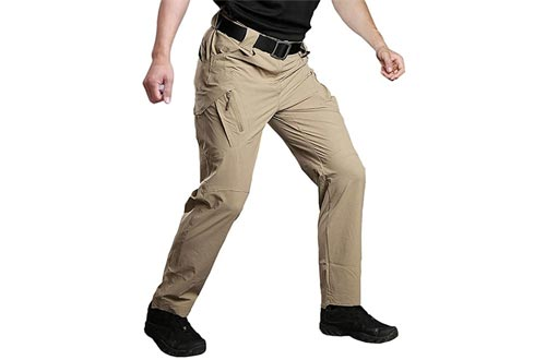 5. Susclude Men's Tactical Pants Slim Fit Hiking Pants, Mens Lightweight Cargo Pants