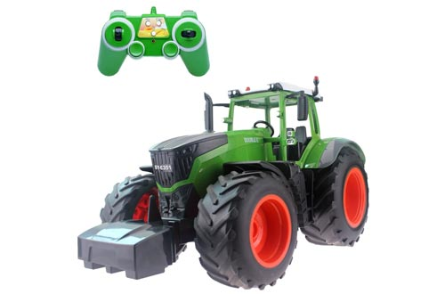 6. Fistone RC Truck Farm Tractor, Construction Vehicle Remote Control Toy