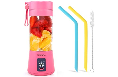 6. Tenswall Portable Blender Shakes and Smoothies Mini Juicer Cup USB Rechargeable
