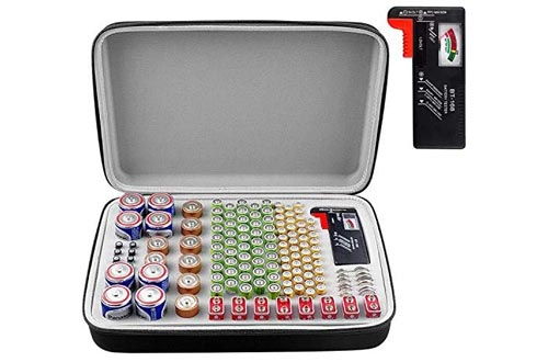 7. PAIYULE Battery Organizer, Containers Box Holder Bag