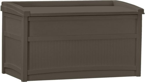 #7. Suncast Indoor/Outdoor Outdoor Storage Benches 50-Gallon