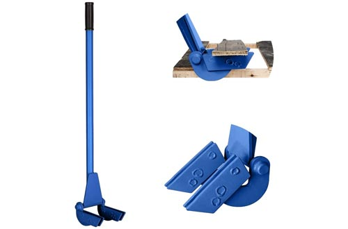 7. TUFFIOM Pallet Buster Tool with Extended Padded Handle & Free Nail Puller
