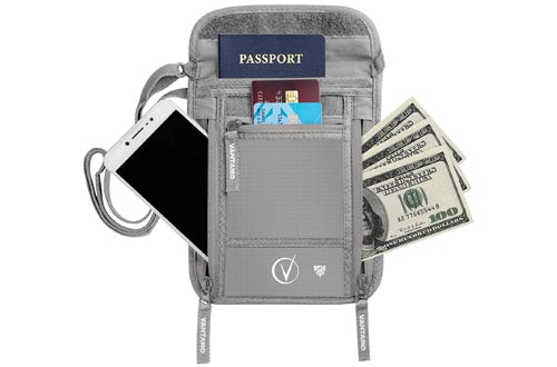 7. Vantamo Neck Wallet Travel Pouch and Passport Holder - RFID Protected