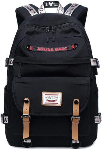 #8. AGOWOO Durable School bags for Teenagers