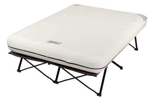 8. Coleman Camping Cot, Folding Camp Cot and Air Bed with Side Tables