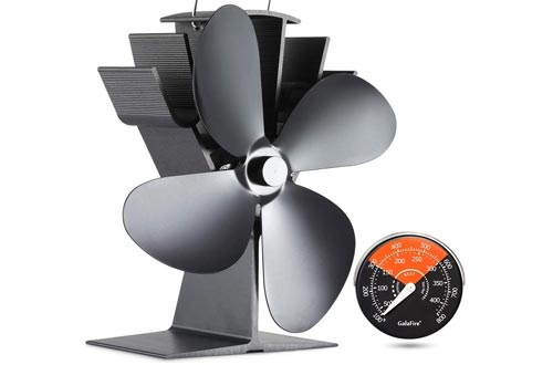 8. GALAFIRE Heat Powered Wood Stove Fan