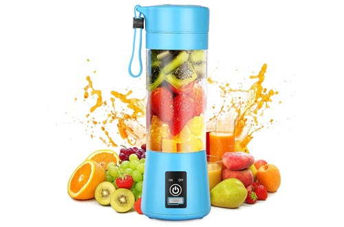 8. Geohee Mini Jucier Cup USB Rechargeable and Personal Size Blender Shakes