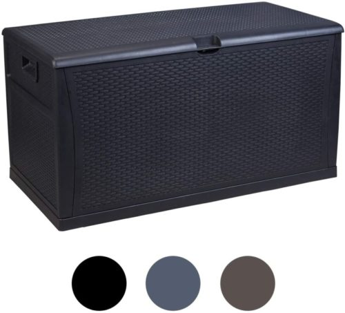 #8. Leisurelife Plastic Outdoor Storage Benches