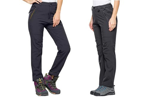 8. Toomett Women's Soft Shell Insulated Waterproof slim fit tactical pants